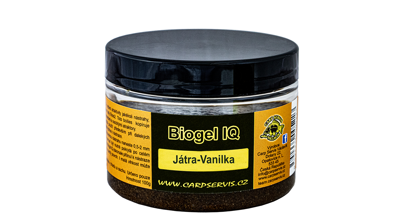 Carp Servis Václavík Biogel IQ - 100 g/Játra-Vanilka
